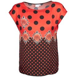 Clothing Women short-sleeved t-shirts Alba Moda BETTINA Red / Black