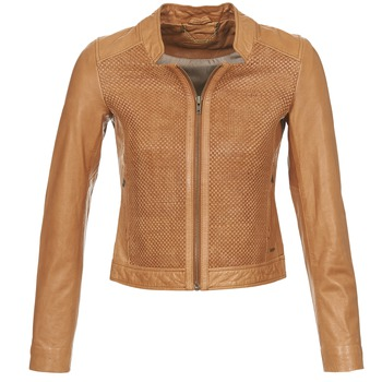 Clothing Women Leather jackets / Imitation leather Ikks SANTA ANA COGNAC