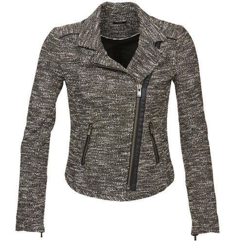Clothing Women Jackets / Blazers Ikks VERMILLION Black
