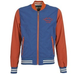 Clothing Men Jackets Teddy Smith BISTHER Blue / Ocre tan
