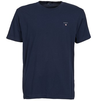 Clothing Men short-sleeved t-shirts Gant SOLID Marine