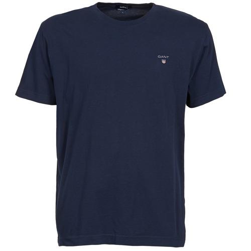 Clothing Men Short-sleeved t-shirts Gant SOLID Marine