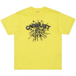 Clothing Men short-sleeved t-shirts Carhartt WIP  Explode T-Shirt Yellow