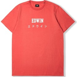 Clothing Men short-sleeved t-shirts Edwin Jeans Edwin Japan T-Shirt-Washed Red Red