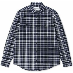Clothing Men long-sleeved shirts Carhartt L/S Stinson Check Shirt Blue