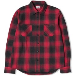 Clothing Men long-sleeved shirts Edwin Jeans Edwin Labour Flannel Shirt Red