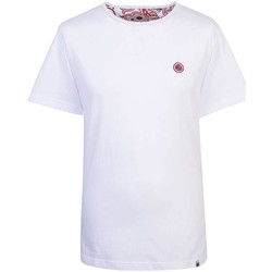 Clothing Men short-sleeved t-shirts Pretty Green Mitchell Cotton T-Shirt White