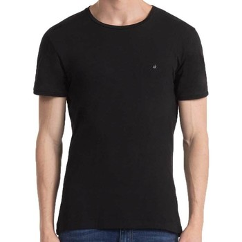 Clothing Men short-sleeved t-shirts Calvin Klein Jeans Jeans Bron Basic T Shirt Black