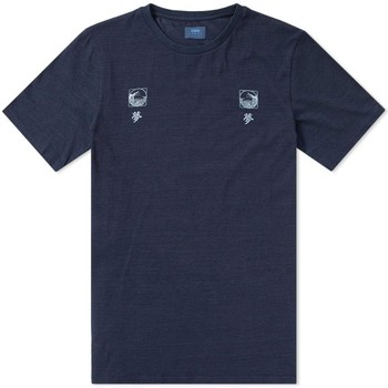 Clothing Men short-sleeved t-shirts Edwin Jeans Edwin Waves T-Shirt Indigo