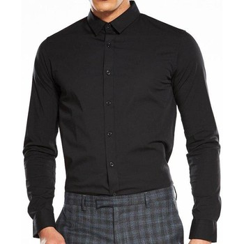 Clothing Men long-sleeved shirts Calvin Klein Jeans Jeans Wilbert Long Sleeve Shirt BLACK