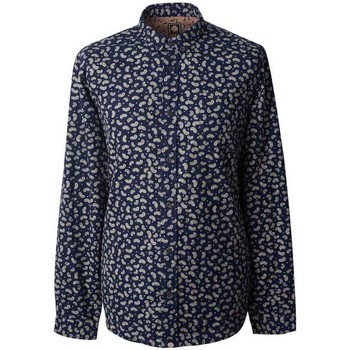 Clothing Men long-sleeved shirts Pretty Green Classic Fit Paisley Print Shirt Navy