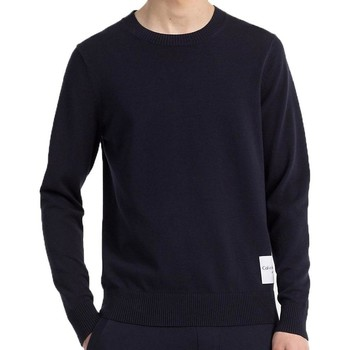 Clothing Men sweaters Calvin Klein Jeans Jeans Mens Slim Cotton Blend Sweater Navy