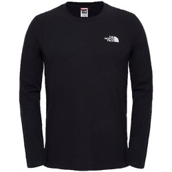 Clothing Men sweaters The North Face Long Sleeve Easy T-Shirt Black
