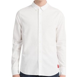 Clothing Men long-sleeved shirts Calvin Klein Jeans Jeans Mens Slim Oxford Cotton Shirt White
