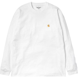 Clothing Men sweaters Carhartt WIP Long Sleeve Chase T-Shirt White