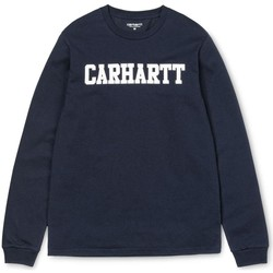 Clothing Men sweaters Carhartt WIP L/S College T-Shirt Navy