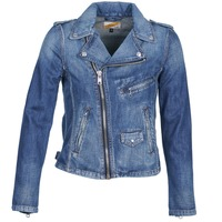 Clothing Women Denim jackets Schott JANIS Blue