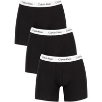Underwear Men Boxer shorts Calvin Klein Jeans 3 Pack Cotton Stretch Boxer Briefs black