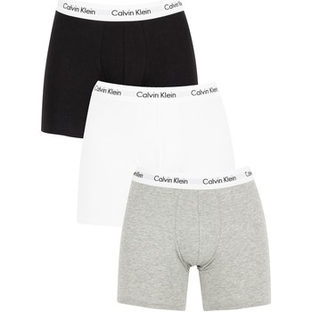 Underwear Men Boxer shorts Calvin Klein Jeans 3 Pack Cotton Stretch Boxer Briefs white