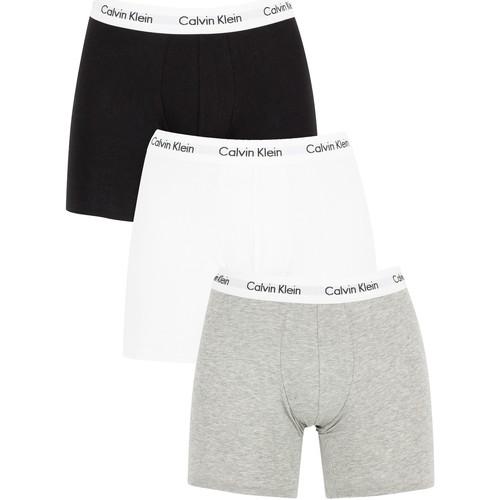 Underwear Men Boxer shorts Calvin Klein Jeans 3 Pack Cotton Stretch Boxer Briefs white