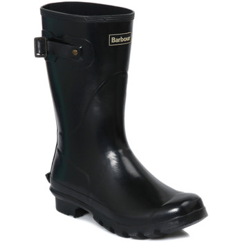 Barbour  Womens Short Gloss Black Wellington  womens Wellington Boots in black