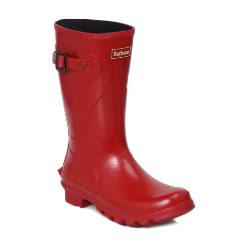 Shoes Women Wellington boots Barbour Short Gloss Red Wellington Red