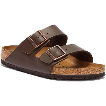 Shoes Men Mules Birkenstock Brown Arizona Birko-Flor Sandals Brown
