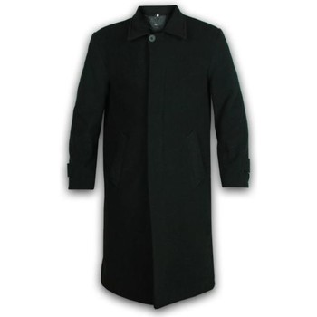 Clothing Men coats De La Creme - Men's Wool and Cashmere Long Winter Coat Black