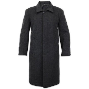 Clothing Men coats De La Creme Wool and Cashmere Long Winter Coat Grey