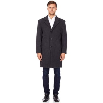 Clothing Men coats De La Creme Wool and Cashmere Winter Coat Grey