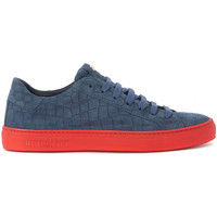 Shoes Men Low top trainers Hide&jack Essence Croco blue suede sneaker Blue