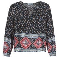 Clothing Women Tops / Blouses Casual Attitude WASAS Black / Multicolour