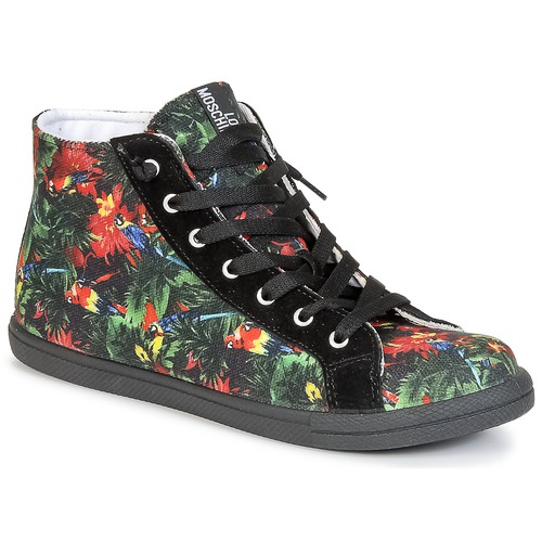 Shoes Women Hi top trainers Love Moschino JA15132G0KJE0000 Black / Multicoloured