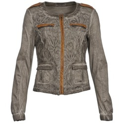 Clothing Women Jackets / Blazers Cream SPORTY TAUPE