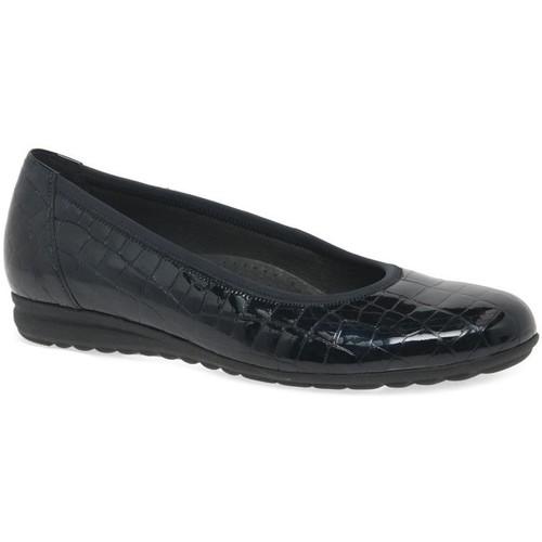 Shoes Women Flat shoes Gabor Splash Womens Casual Ballet Pumps blue