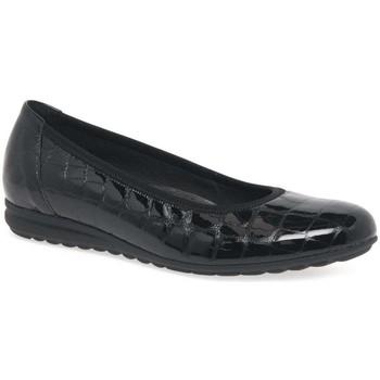 Shoes Women Flat shoes Gabor Splash Womens Casual Ballet Pumps black