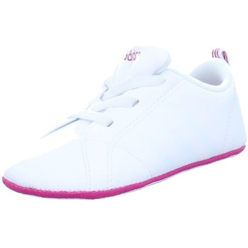 Shoes Children Low top trainers adidas Originals VS Advantage Crib White