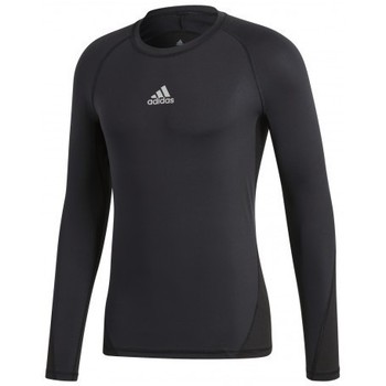 Clothing Men short-sleeved t-shirts adidas Originals Alphaskin Sport LS Black