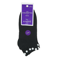 Shoe accessories Women Socks André PERLE Black