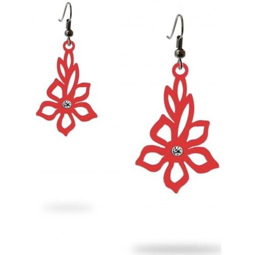 Watches Women Earrings Blue Pearls Dangling Hooks Earrings Women Tiare flower Red Silicone Gum Other