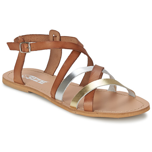 Shoes Women Sandals So Size AVELA Hazelnut