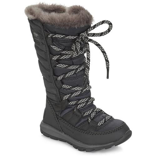 Shoes Children Snow boots Sorel CHILDREN'S WHITNEY LACE  black