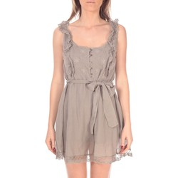 Clothing Women Short Dresses Vision De Reve Robe Lancia 7099 Taupe Brown