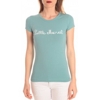 Clothing Women Short-sleeved t-shirts Little Marcel t-shirt tokyo corde turquoise Blue