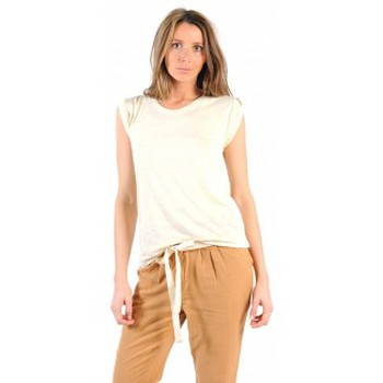 Clothing Women Short-sleeved t-shirts American Vintage TOP JAC60 NATUREL Beige