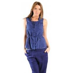 Clothing Women Jackets / Cardigans Sud Express GILET GAMBANI BLEU OCEAN Blue