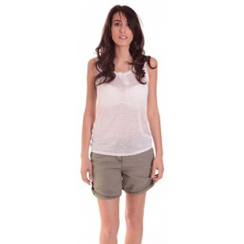 Clothing Women Tops / Sleeveless T-shirts Sud Express DEBARDEUR DOTESSE BLANC White