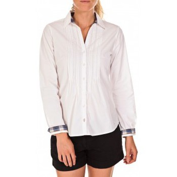 Clothing Women Shirts Tom Tailor Chemise Beatrix Blanche White