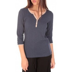 Clothing Women Long sleeved tee-shirts Tom Tailor Top Trendy Color Block Tee Bleu marine Blue