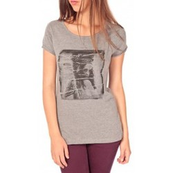 Clothing Women short-sleeved t-shirts Tom Tailor T-shirt With Print Gris Grey